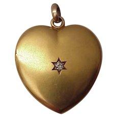 Victorian Heart Locket W/Diamond Accent