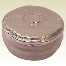 R. Blackinton & Co. Sterling & Verre De Soie Dresser Jar - Circa 1925