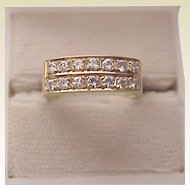 14K Yellow Gold and Diamond Ring - Circa 1965