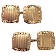 Carrington Co. 14kt. Yellow Gold Cufflinks - Circa 1925