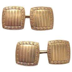 Carrington Co. 14kt. Yellow Gold Cufflinks - Circa 1925