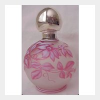 English Cameo Glass Scent Bottle - Circa 1900