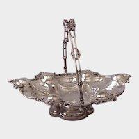 Circa 1880 Silver Plate Georgian Style Cake Basket