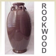 Hand Thrown Rookwood Pottery Floor Vase Dated 1917