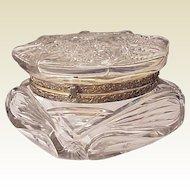 C. F. Monroe Hobstar and Fan Cut Glass Box - Circa 1910