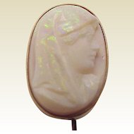 14Kt. and Opal Cameo Stick Pin - Circa 1895