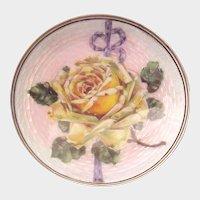 European 935 Silver, Enamel Vanity Dish - Circa 1925