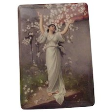 Ernst Wahliss Hand Painted Porcelain Plaque - Circa 1900