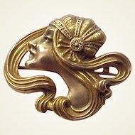 14Kt. Art Nouveau Ladies Watch Pin - Circa 1900