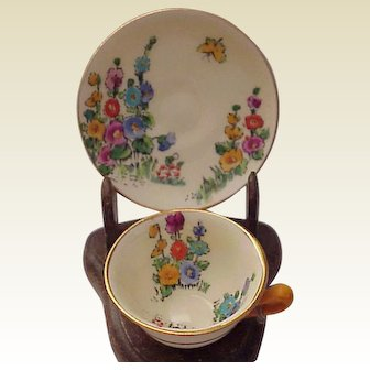 Miniature Crown Staffordshire Cup & Saucer - Circa 1930