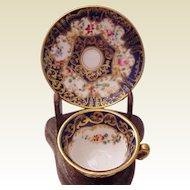Miniature Crown Staffordshire Cup & Saucer - Circa 1925