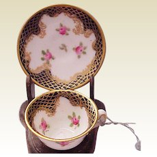 Miniature Crown Staffordshire Cup & Saucer - Circa 1920