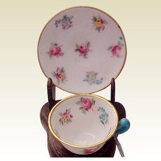 Miniature Crown Staffordshire Cup & Saucer - Circa 1925