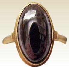 18 Kt Yellow Gold and Hematite Ring - Circa 1910