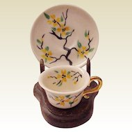 Rose Crown Miniature Cup & Saucer - Circa 1945