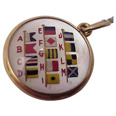 14 kt. Essex Crystal Fob of International Code of Maritime Signal Flags - After 1901