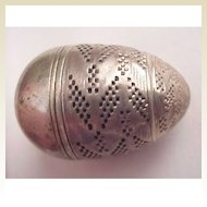 German Engine Turned Silver  Egg Form Scent Box - Circa 1725