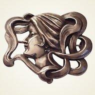 Kerr Sterling Art Nouveau Pin #1273 - Circa 1905