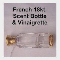 French 18K. Scent - Vinaigrette Bottle - C. 1870