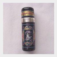 European Silver, Enamel Scent Bottle - C. 1880