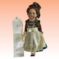 All Original Girl in Charming Ethnic Costume UFDC Ribbon