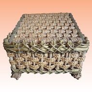 Antique Square Sewing Basket