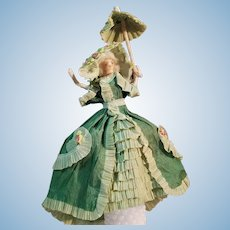 Fantastic Clothes Pin Doll with Paper Fashion Dress