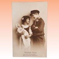 German Postcard with Big Kestner Kaiser Baby