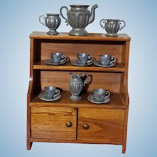 Kitchen Cupboard with Tea Service