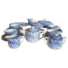 Holiday Sale! Children's Blue Phoenix Tea Set Japan