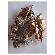Gorgeous & Unusual Pennino Sterling Leaf Brooch