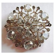 Gorgeous Sterling Silver Snowflake Brooch