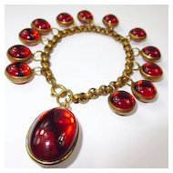 Glowing Red Glass Orb Bracelet