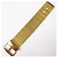 Gold Tone Mesh Buckle Bracelet