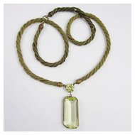 Amazing Huge Glass Pendant Necklace