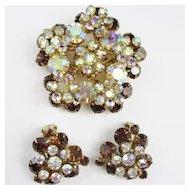 Juliana Dimensional Brooch & Earring Set