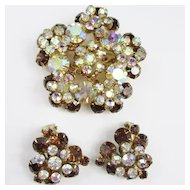 Juliana Dimensional Brooch & Earring Set