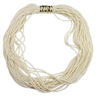 Huge Cadoro Multiple Strand Faux Pearl Necklace