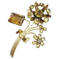 Wonderful 1940s Vogue Sterling Flower Brooch