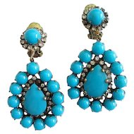 Gorgeous 1960s Kenneth Jay Lane (K.J.L.) Earrings