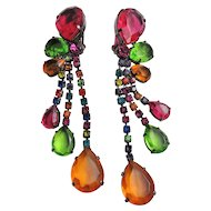 Super Fun Huge Dangling Lucite Earrings