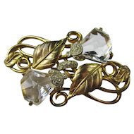 Lovely Art Deco Crystal Brooch