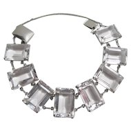 Gorgeous Rock Crystal Sterling Bracelet
