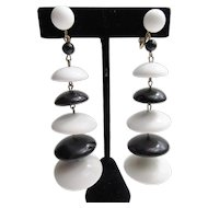 Fab Black & White Disc Earrings