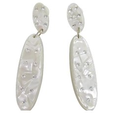 Wonderful Designer Quality Lucite Earrings