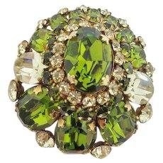 Beautiful Schreiner Green Brooch