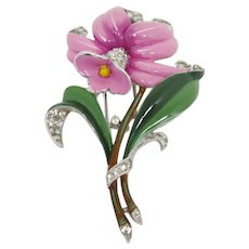 Lovely Trifari Alfred Philippe Floral Fur Clip