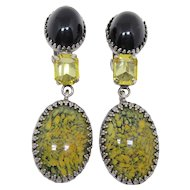 Wonderful Dangling Schreiner Earthtone Earrings