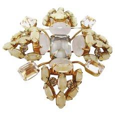 Stunning Schreiner Dimensional Brooch