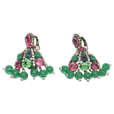 Rare and Gorgeous K.J.L. Drop Earrings from the 1960s